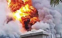 Kịp thời dập tắt đám cháy lớn trong khu công nghiệp