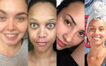 Các sao nữ để mặt mộc selfie chống 'sống ảo'