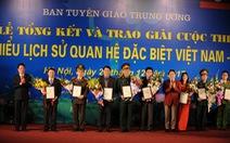 Trao giải cuộc thi 'tìm hiểu lịch sử quan hệ đặc biệt Việt Nam-Lào'