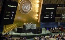 Đại hội đồng Liên hiệp quốc thông qua nghị quyết phản đối Mỹ công nhận Jerusalem