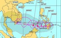 Bão Tembin có thể giật cấp 14 khi vào Biển Đông