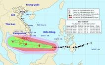 Bão Tembin đang tiến vào biển Đông