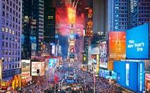 Đón năm mới ở Quảng trường Thời đại New York