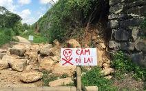 Thành nhà Hồ sạt lở sau bão số 10