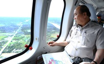 Thủ tướng Nguyễn Xuân Phúc thị sát ĐBSCL bằng trực thăng