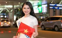 Thuỳ Dung ôn tiếng Anh ở sân bay trước khi thi Hoa hậu tại Nhật