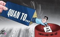 Chống tham nhũng: Bước tiến mới