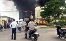 Cháy lớn tại công ty sản xuất thiết bị điện trong KCN Tiền Hải