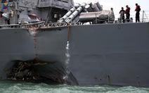 Singapore: Tàu USS John McCain không gửi tín hiệu AIS