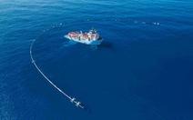 Hệ thống dọn sạch 90% rác đại dương bắt đầu hoạt động