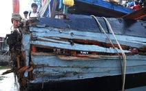 Một tàu cá Quảng Nam bị đâm vỡ ở Hoàng Sa
