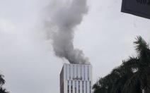 Cháy kèm tiếng nổ tại công trình ở Hà Nội
