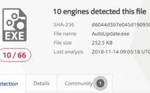 Cảnh báo nhiễm mã độc khi tải tập tin dữ liệu khách hàng FPT Shop