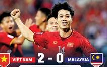 Thống kê trận Việt Nam thắng Malaysia 2-0