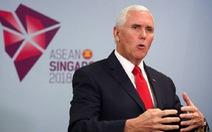 Ông Pence lại nói Mỹ sẽ tiếp tục tuần tra ở Biển Đông