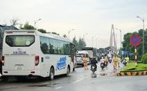 Đụng xe ở cầu Rạch Miễu, CSGT 2 tỉnh giải quyết vẫn kẹt cứng 3-4 tiếng