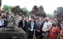Tổng thống Ấn Độ dạo bước ở Khu di tích Mỹ Sơn