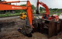 Đường ống D1500mm gặp sự cố gây cúp nước nhiều quận huyện