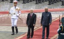 Chủ tịch nước Nguyễn Phú Trọng đón tiếp Tổng thống Ấn Độ Kovind