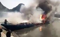 Tàu cao tốc cháy rụi khi neo đậu tại cảng