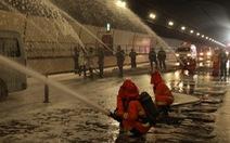 Diễn tập chữa cháy, cứu người trong điều kiện thi công hầm Hải Vân