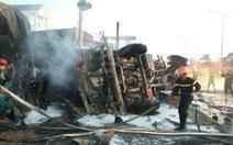 Khởi tố vụ án cháy xe bồn chở xăng làm 6 người chết