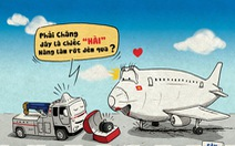 Máy bay mất bánh, hú hồn mà hài hước