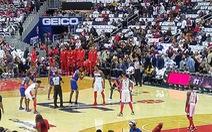 Xem bóng rổ ở Mỹ