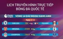 Lịch truyền hình bóng đá châu Âu 2-12: Hấp dẫn derby bắc London