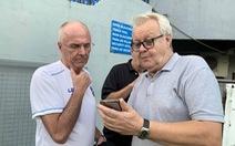 """HLV Eriksson được """"bạn già"""" Thụy Điển đến sân Panaad cổ vũ trước trận VN"""
