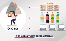 """Phụ nữ Việt """"gánh"""" gần 6 ký bụi ô nhiễm mỗi năm"""