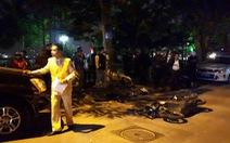 Xe Lexus đâm 9 xe máy và ôtô, 6 nạn nhân cấp cứu