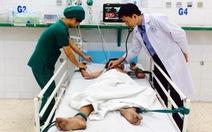 Bé trai 13 tuổi vỡ đại tràng do dùng máy thổi hơi thổi vào hậu môn