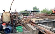 Vây bắt 11 thuyền bơm hút cát trái phép trên sông Đồng Nai