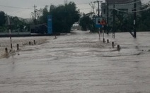 Phú Yên: Mưa lũ ngập đường, hàng ngàn hecta ruộng mất giống
