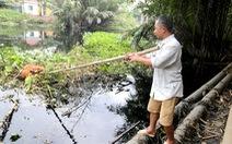 Nước thải chưa xử lý từ KCN Lê Minh Xuân xả thẳng ra kênh nhiều năm