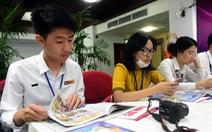 Đại biểu tàu Thanh niên Đông Nam Á - Nhật Bản thăm báo Tuổi Trẻ