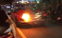 Siêu xe Lamborghini phát cháy khi 'đi bão' tại Đà Nẵng