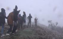Nhiệt độ ở Mẫu Sơn giảm xuống 2,5 độ C
