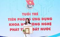 Nữ sinh Duy Tân được giải tiêu biểu toàn quốc lĩnh vực khoa học công nghệ 2018