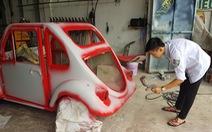 Học sinh lớp 11 tự chế ôtô điện