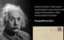 'Thư về Chúa' của Albert Einstein bán đấu giá được gần 3 triệu USD