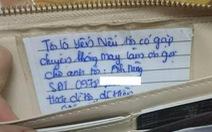 Nhận được ví bị mất sau 30 phút chỉ nhờ một tờ giấy