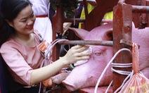 Không còn cảnh máu me ở lễ hội Chém lợn Ném Thượng