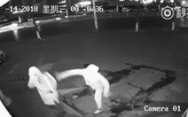 Hài hước cảnh tên trộm Trung Quốc ném gạch vào đầu đồng bọn
