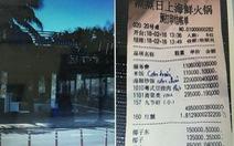Khách tố nhà hàng 'chặt chém', tính tiền bằng tiếng Trung Quốc