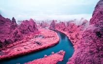 'Hoa mắt' với hồ nở hoa, núi lửa phun... như phim