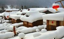 Ngôi làng tuyết trắng đẹp như trong cổ tích ở Cáp Nhĩ Tân