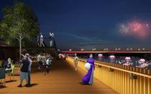 Đường đi bộ dọc sông Hương sẽ được lát bằng gỗ lim