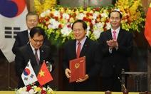 Việt – Hàn ký bản ghi nhớ tiếp nhận lao động Việt Nam